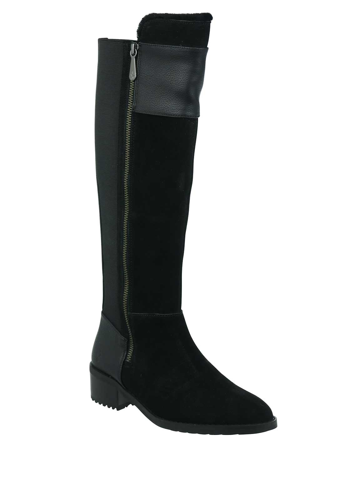 EMU Australia Tennant Long Leather Boots, Black