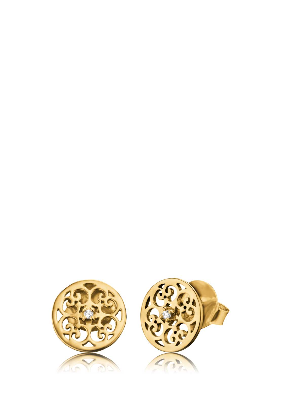 Engelsrufer Ornamental Crystal Earrings, Gold