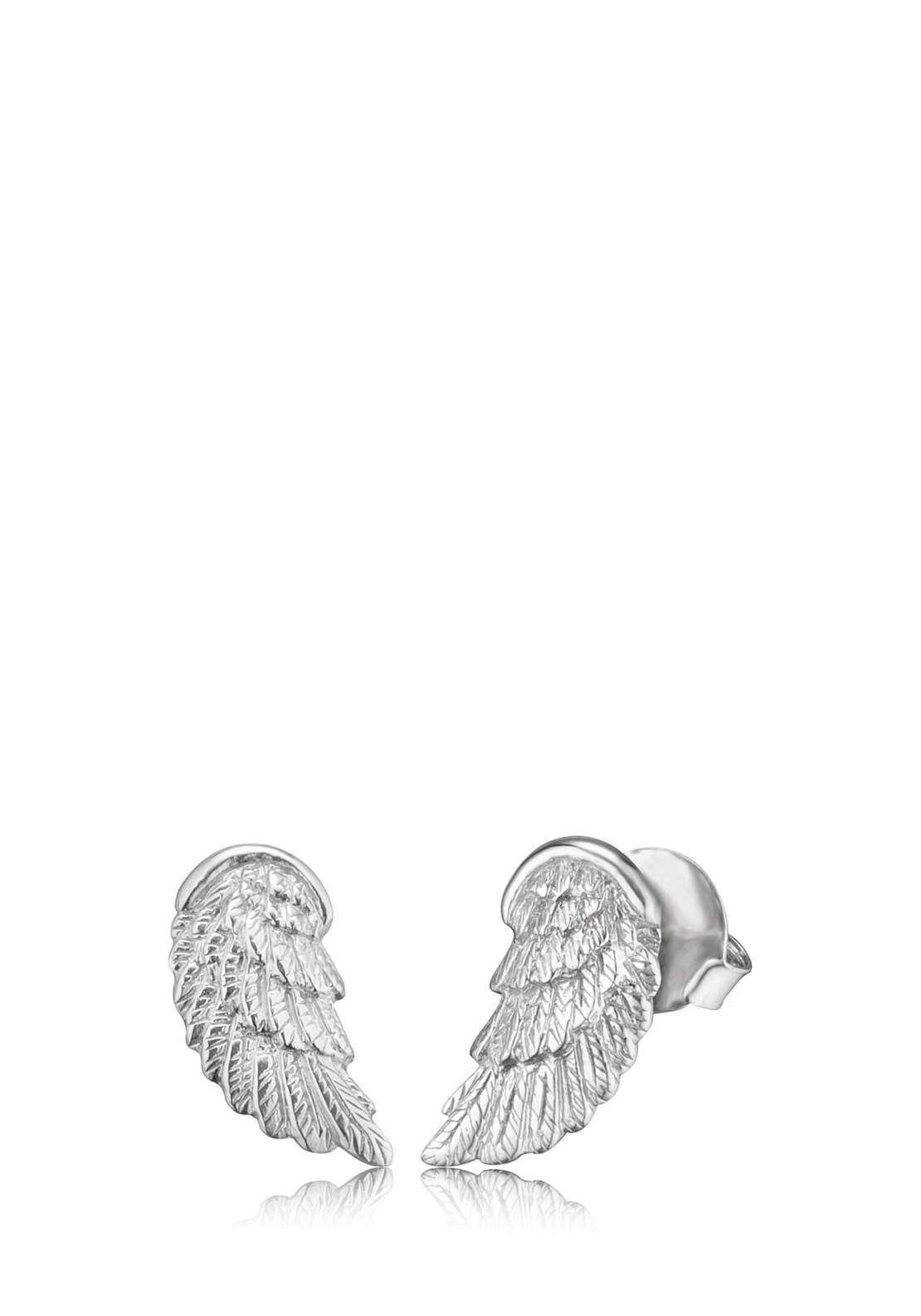 Engelsrufer Stud Wing Earrings, Silver