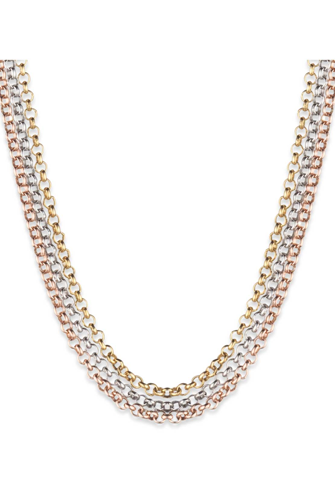 Engelsrufer 80cm Tricolour Chain, Gold, Rose gold, Silver