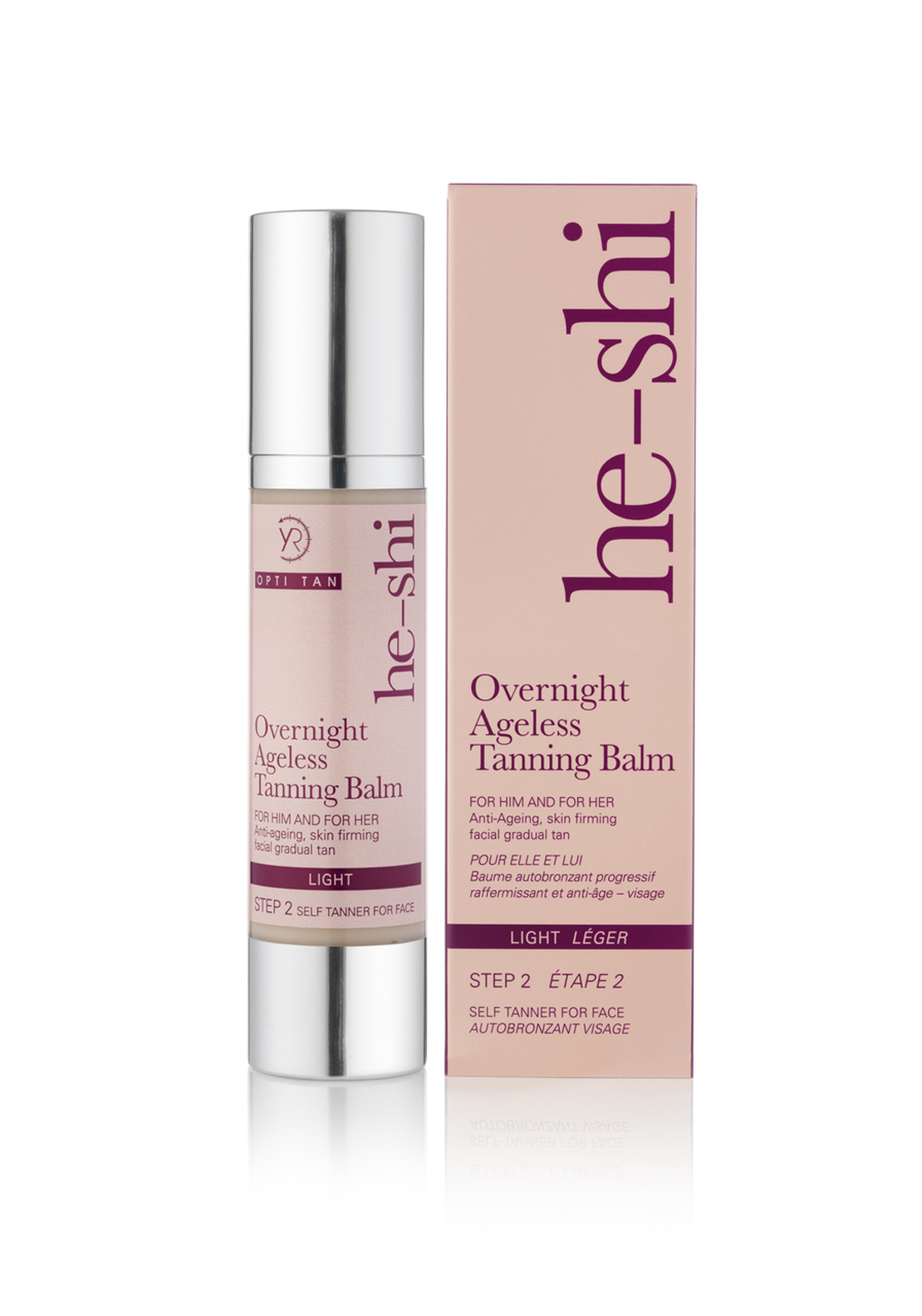 He-Shi Overnight Ageless Tanning Balm, Light 50ml