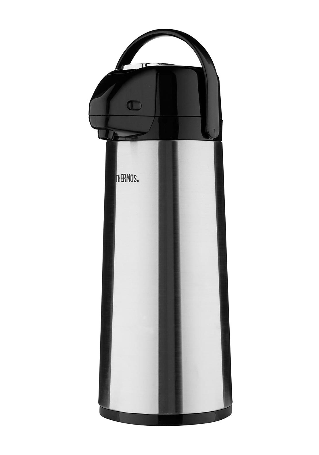 Genuine Thermos Brand Vacuum Insulated Glass Double Wall 2.5L Pump Pot