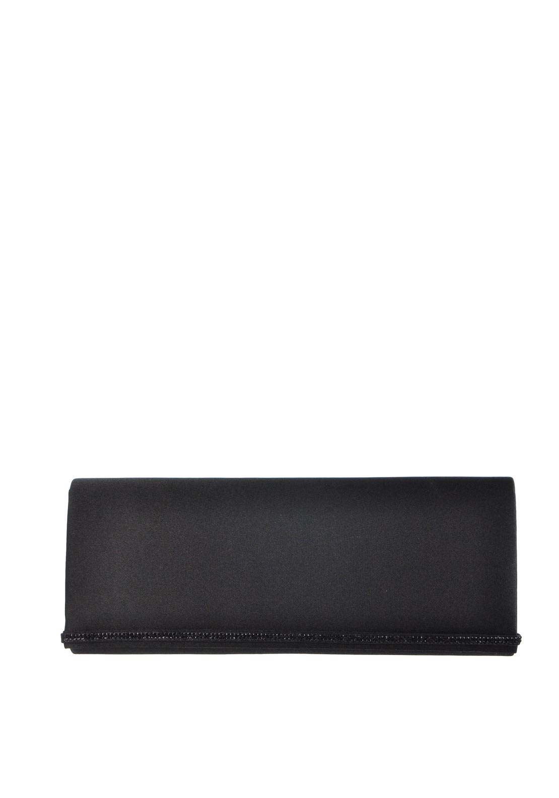 Glamour Satin Clutch Bag, Black
