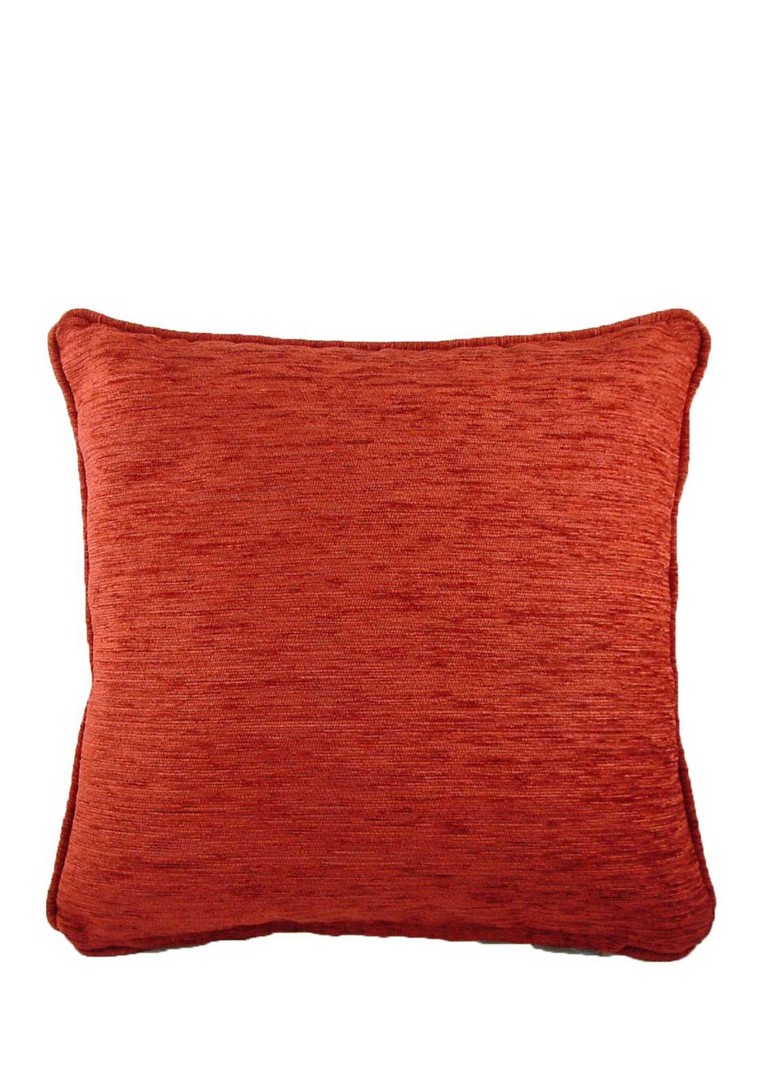 Savannah Chenille Cushion, 43 x 43cm, Terracotta