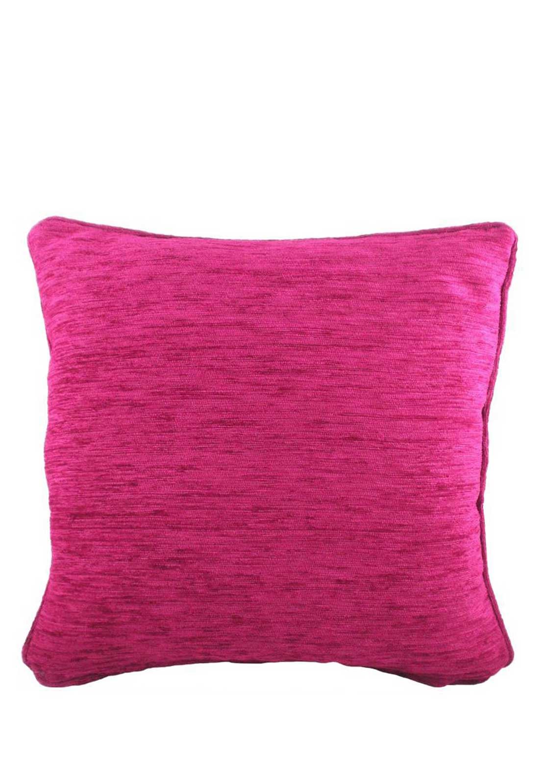 Savannah Chenille Cushion, 43 x 43cm, Cranberry