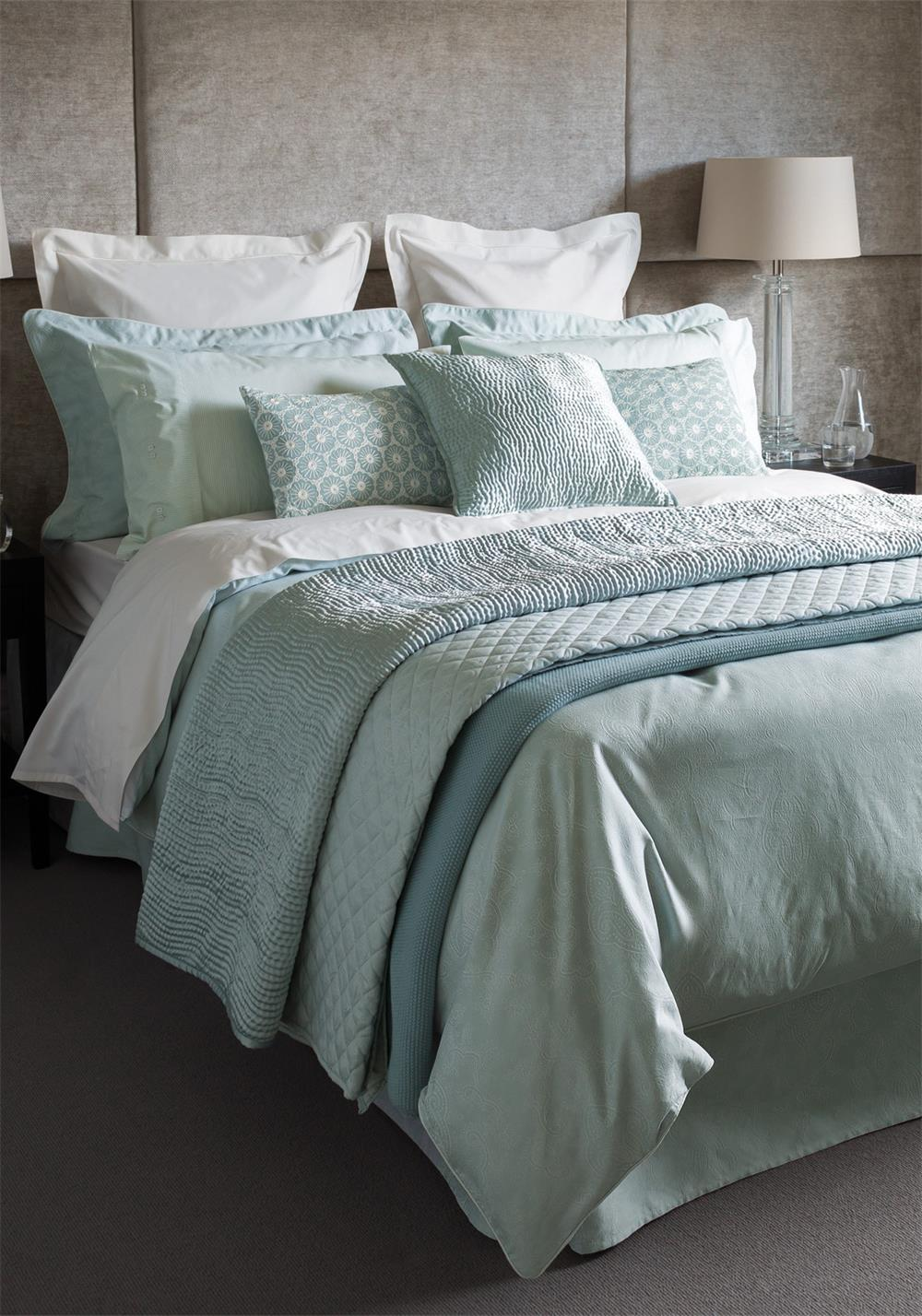 Fable Callista Duvet Cover, Duck Egg