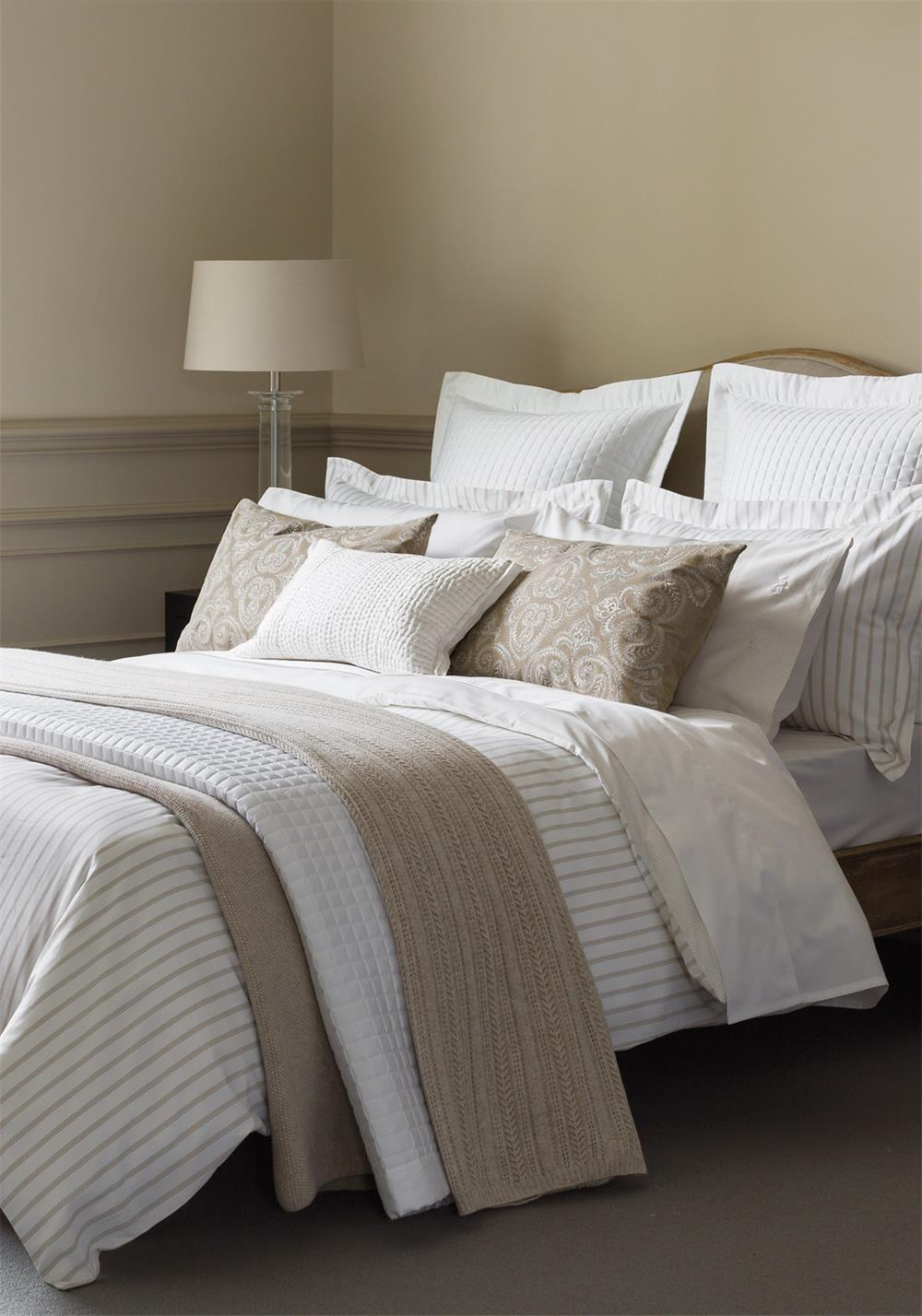 Fable Ellis Stripe Duvet Cover, Linen