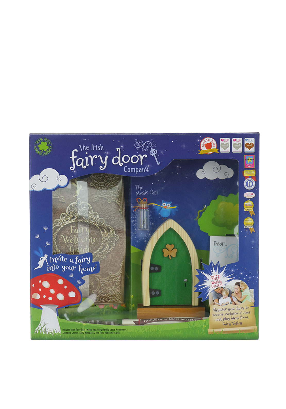 The Irish Fairy Door Company Arched Fairy Door, Green