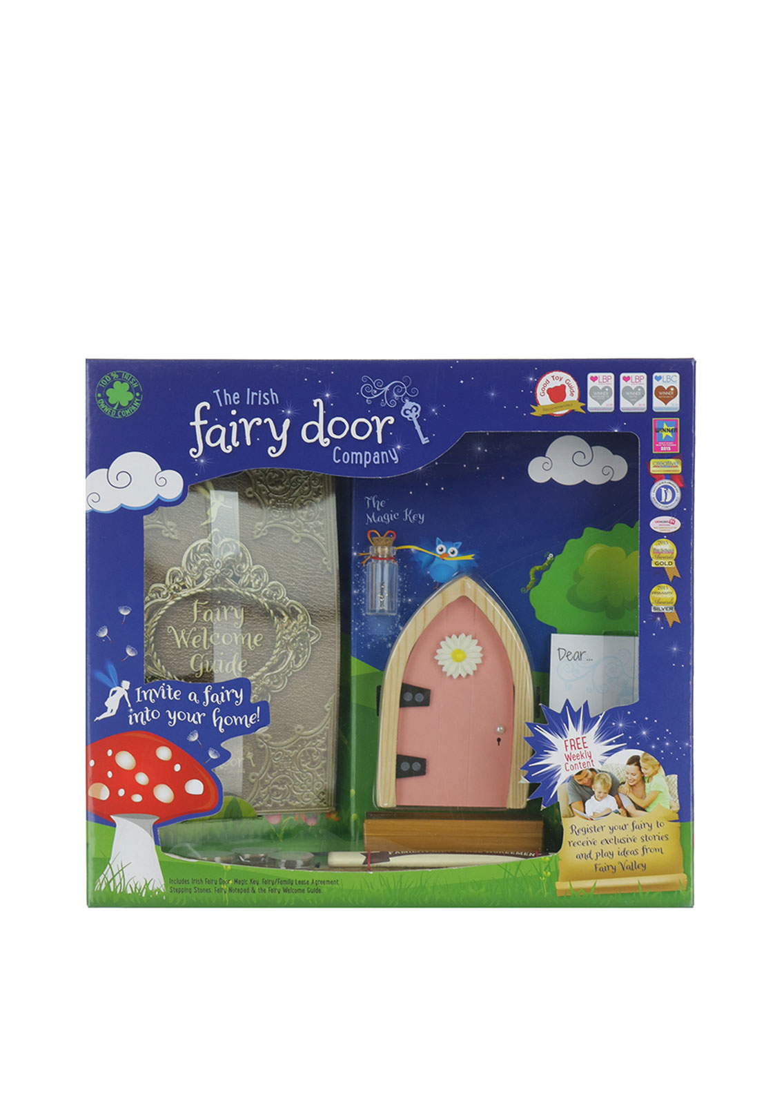 The Irish Fairy Door Company Arched Fairy Door, Pink