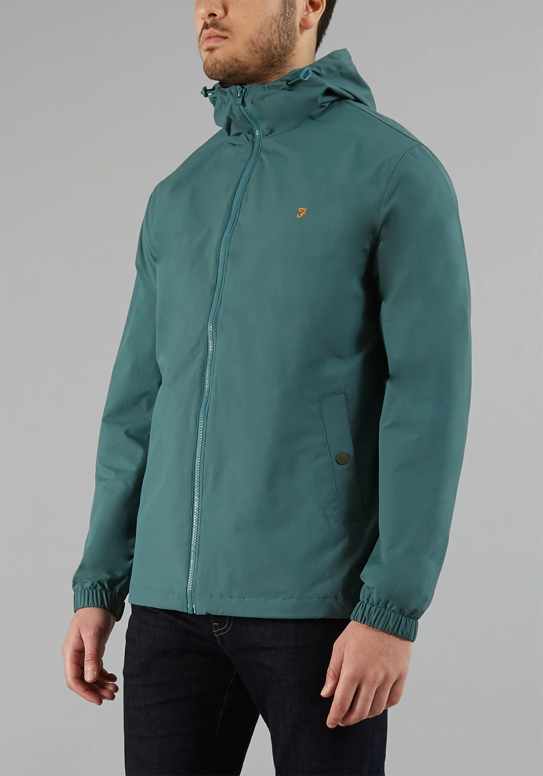 Farah Smith Rain Jacket, Sea Green
