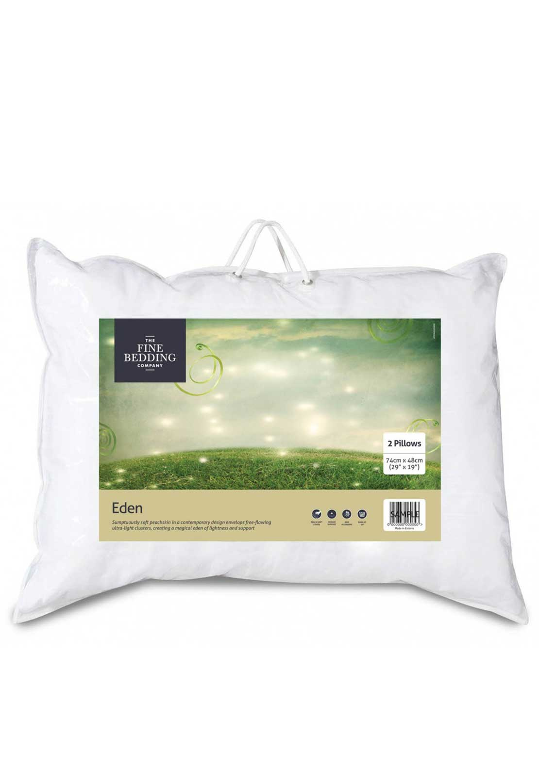 The Fine Bedding Company Eden Microfibre Pillow Pair, Set of Two