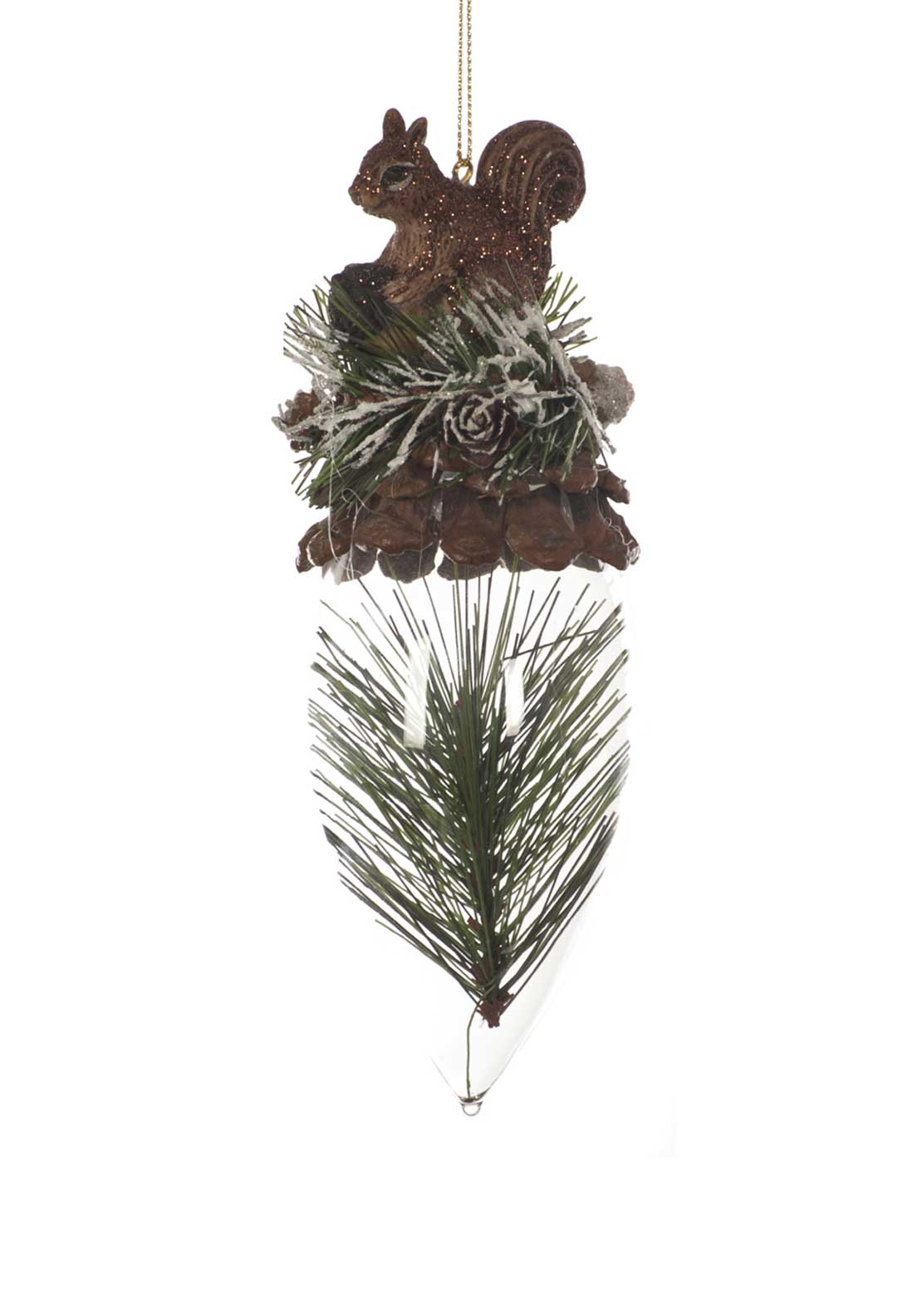 Festive Pine Cone Tree Decoration, Green Multi