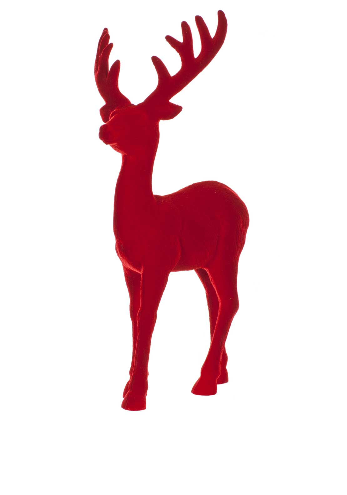 Festive Small Reindeer Ornament, Red