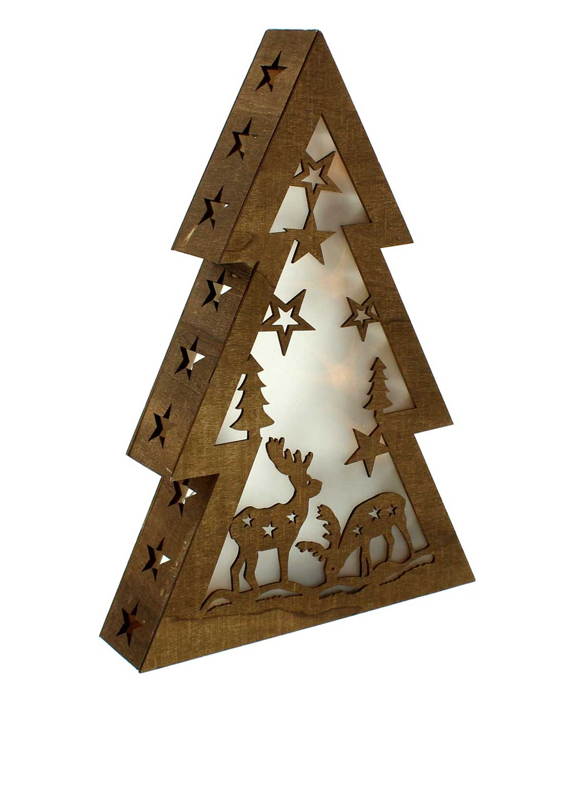 Festive Light Up Christmas Tree Decoration, 37cm