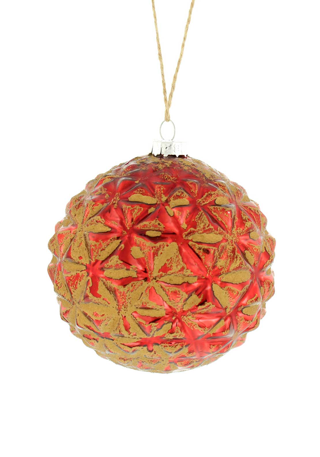 Festive Medium Vintage Tree Decoration, Red and Gold