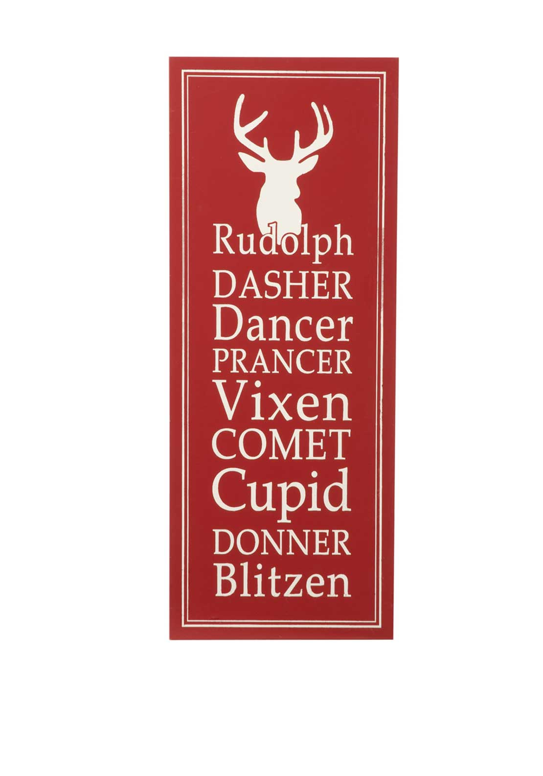 Festive Reindeer Name Wall Sign, Red