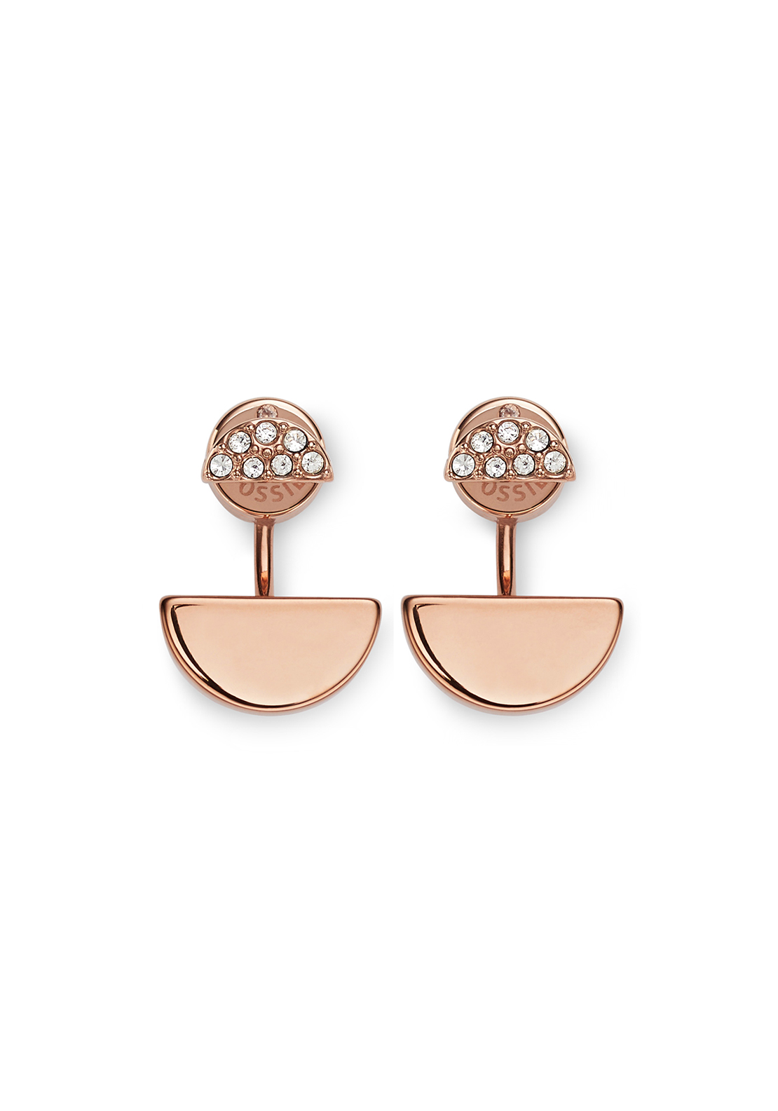Fossil Stones Stud Earrings, Rose Gold