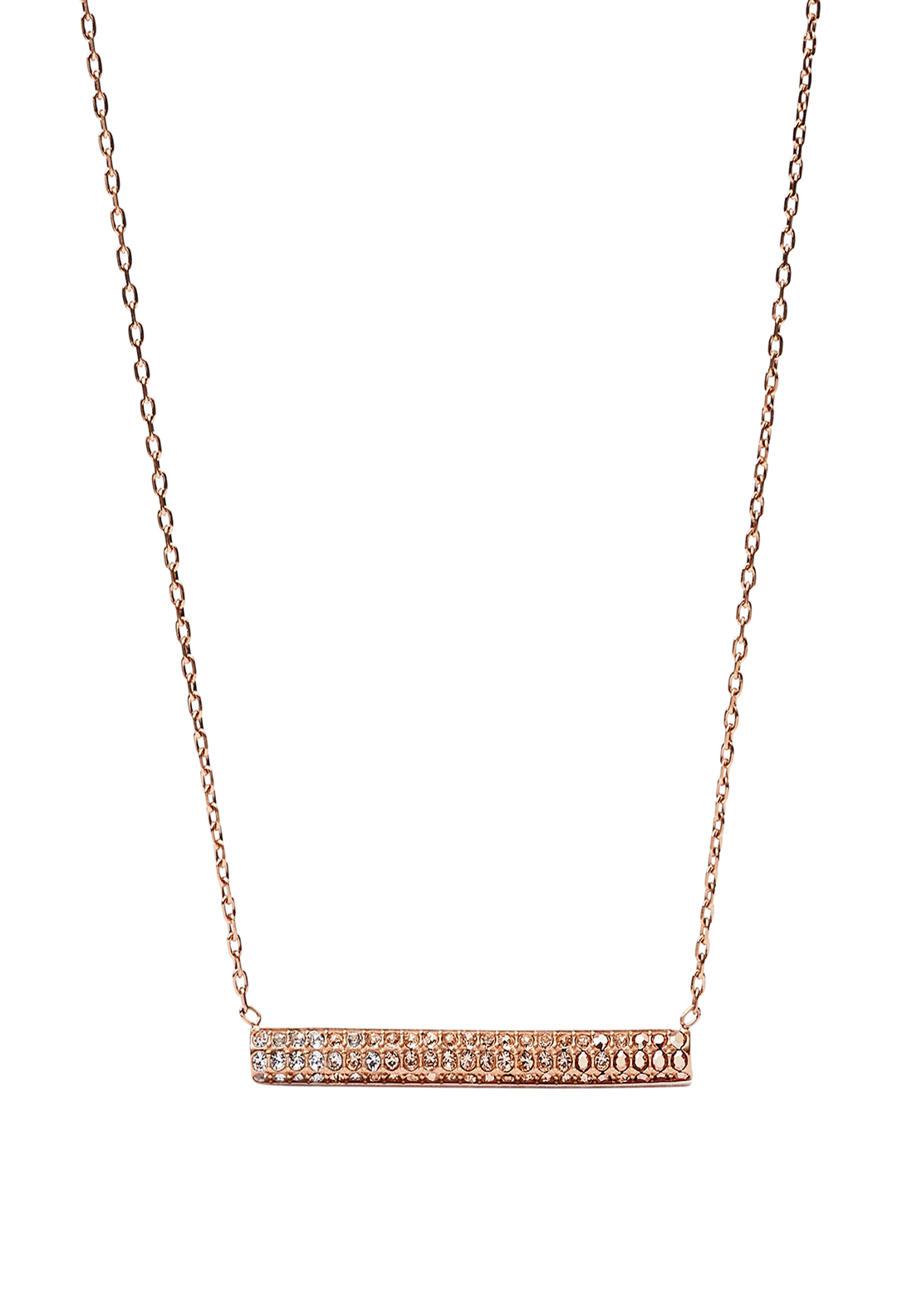 Fossil Glitz Ombre Necklace, Rose Gold