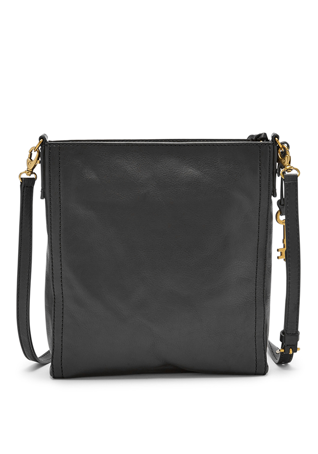 Fossil Emma Leather Crossbody Bag, Black