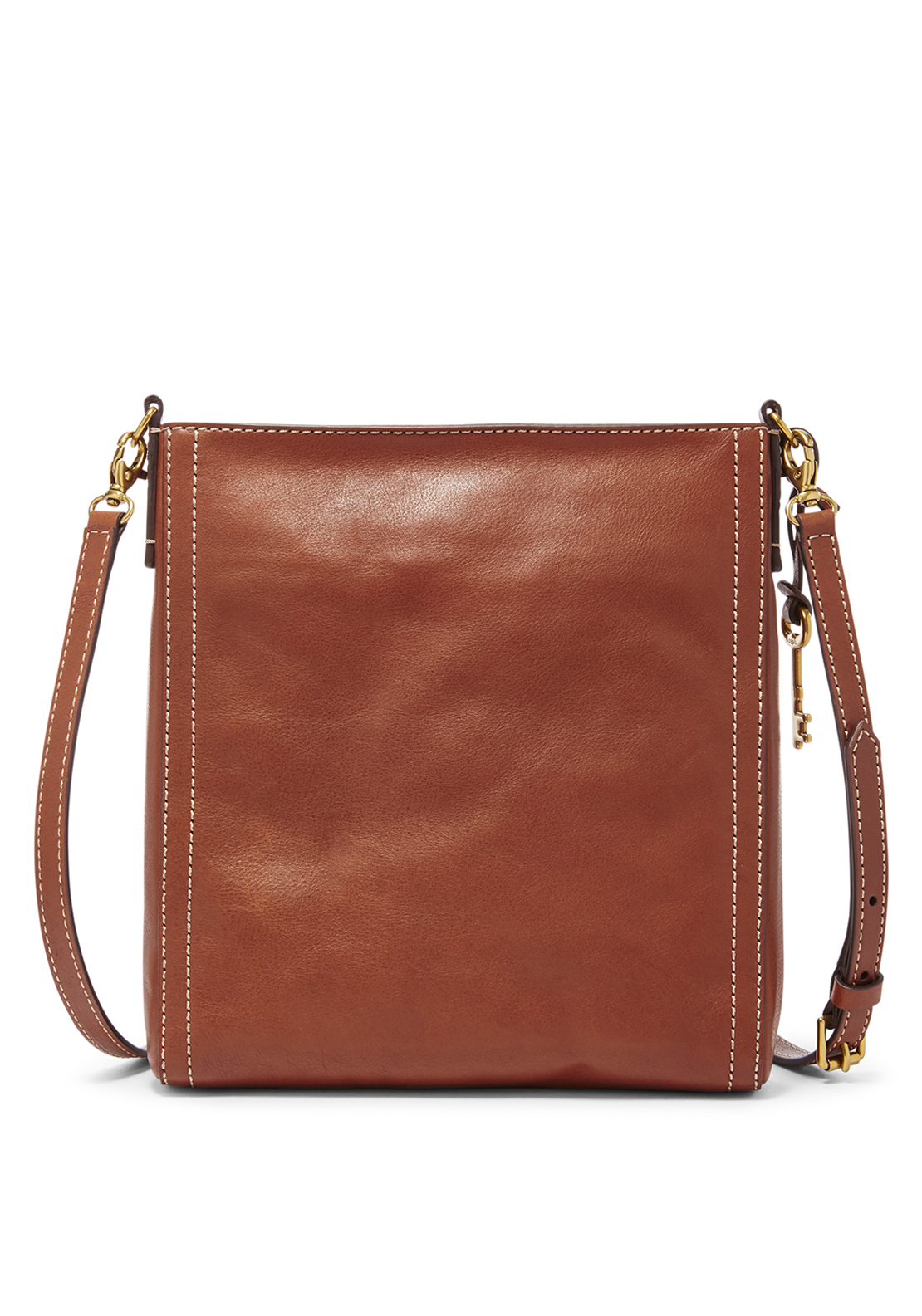 Fossil Emma Leather Crossbody Bag, Brown