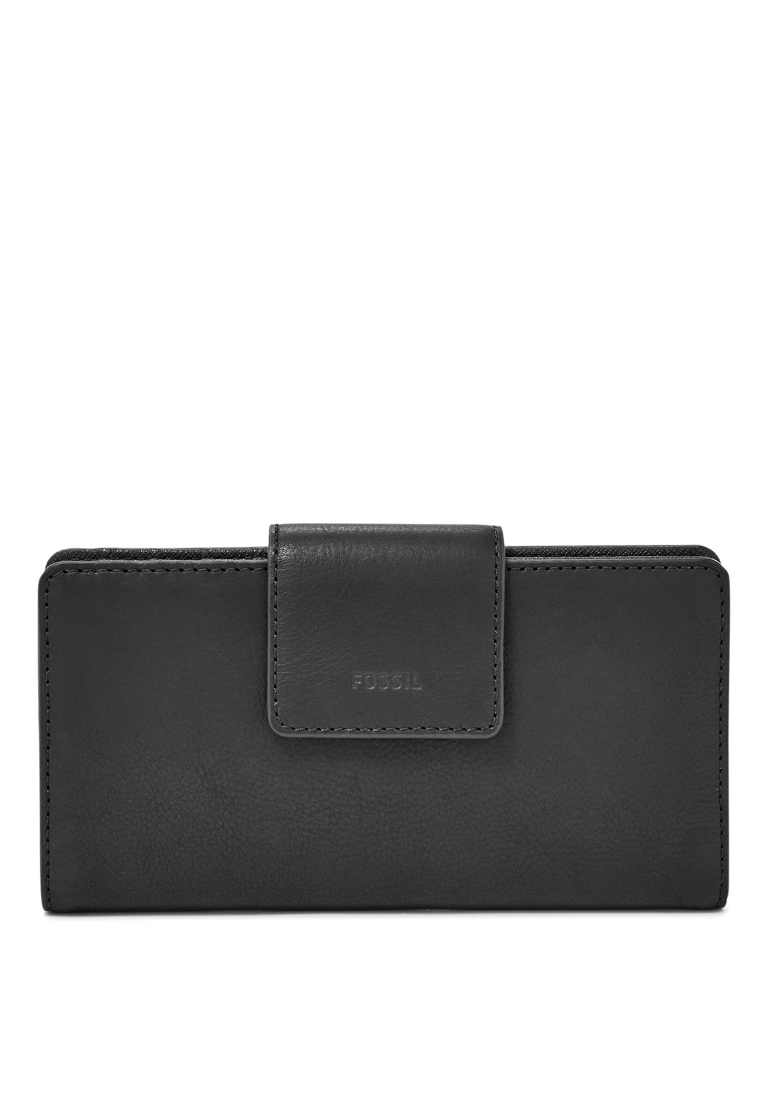 Fossil Emma Leather Tab Purse, Black