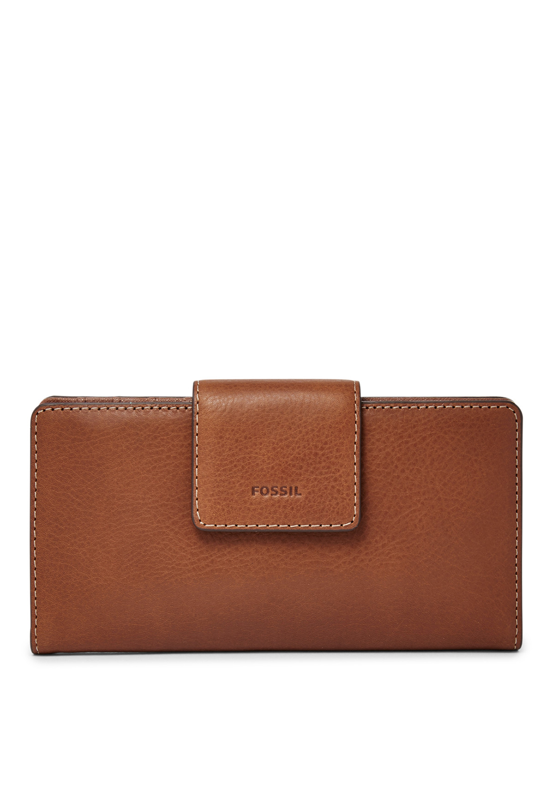 Fossil Emma Leather Tab Purse, Brown