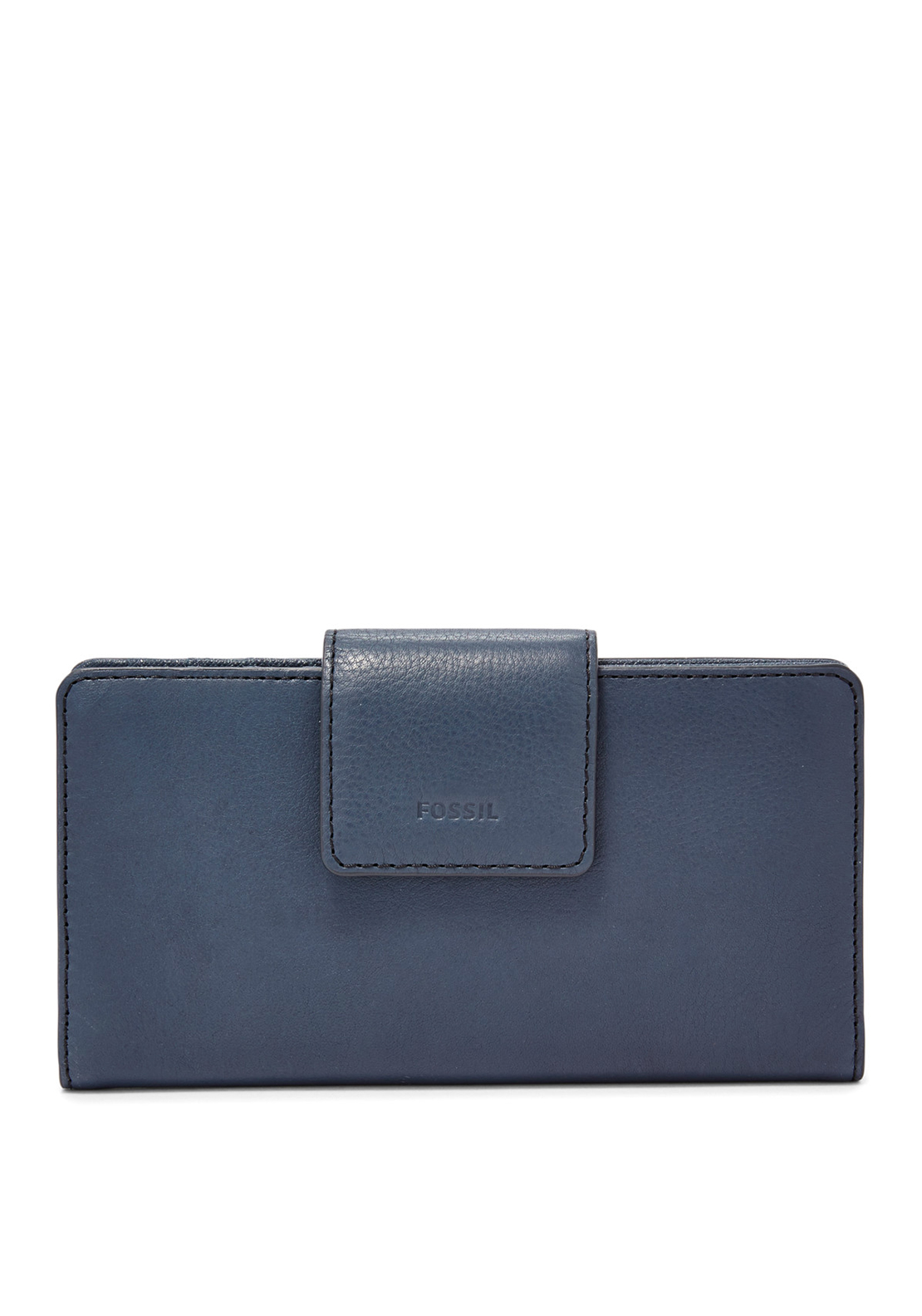 Fossil Emma Leather Tab Purse, Midnight Navy