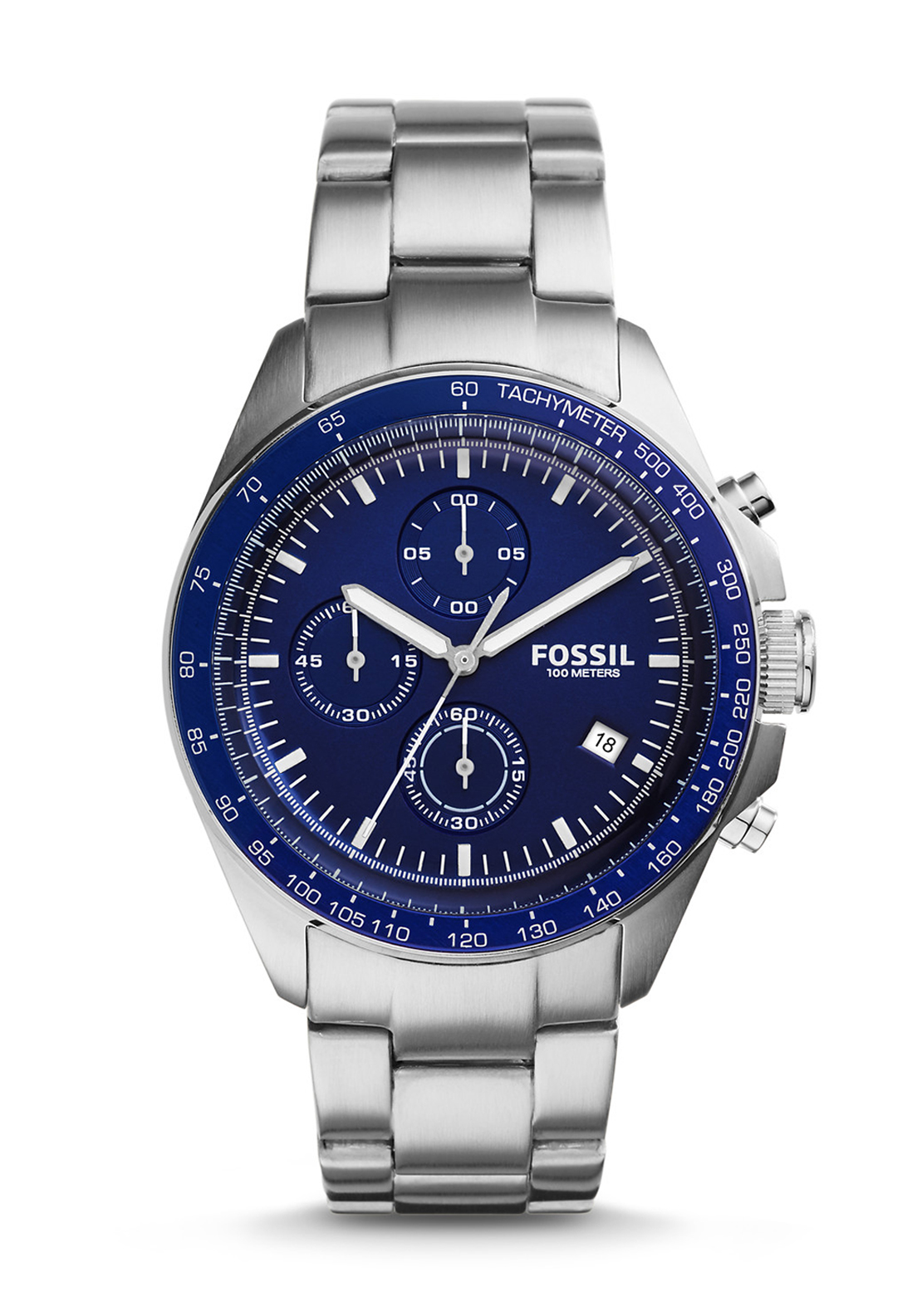 Fossil Mens Sport 54 Chronograph Watch, Stainless Steel