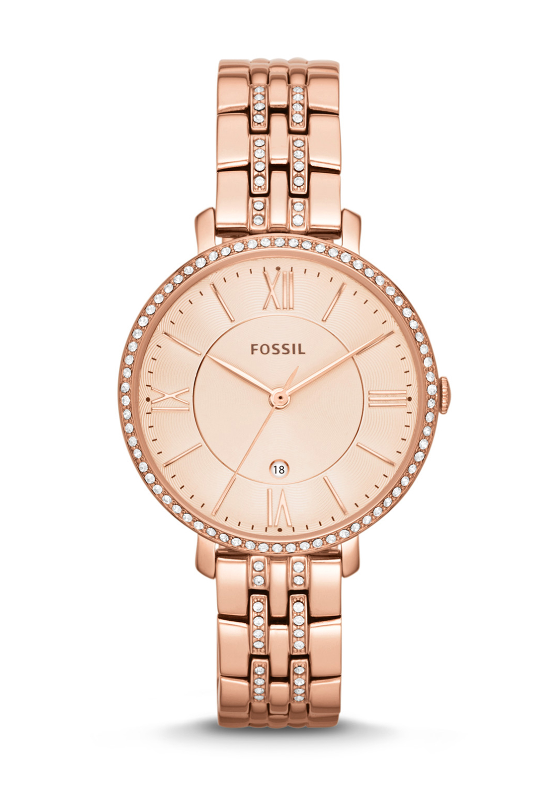 Fossil Womens Jacqueline Watch, Rose Gold