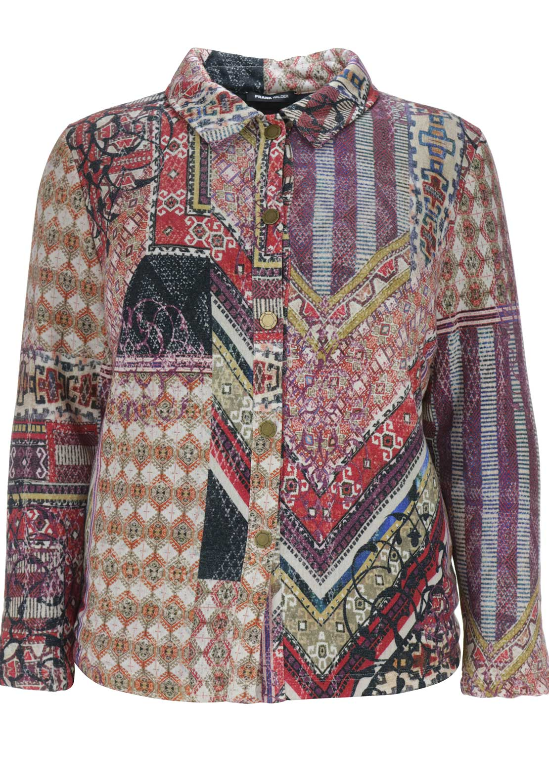 Frank Walder Printed Jersey Jacket, Multi-Coloured