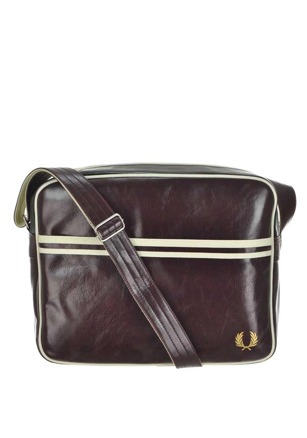 Fred Perry Mens Classic Shoulder Bag, Wine
