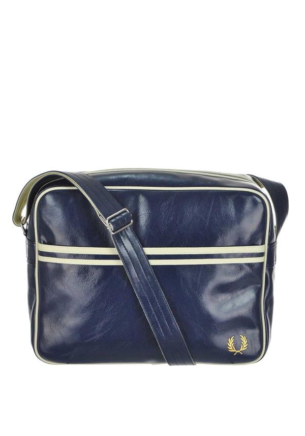 Fred Perry Mens Classic Shoulder Bag, Blue