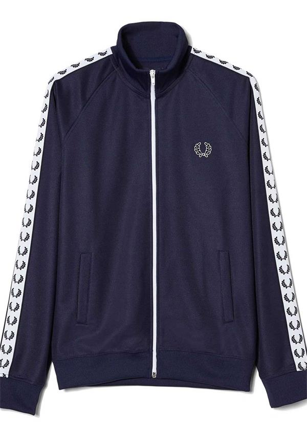 Fred Perry Mens Bomber Track Jacket, Blue