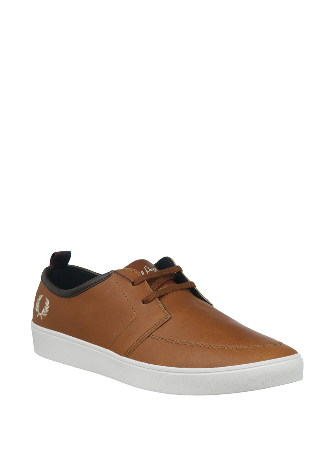 Fred Perry Shields Leather Loafer Trainers, Tan