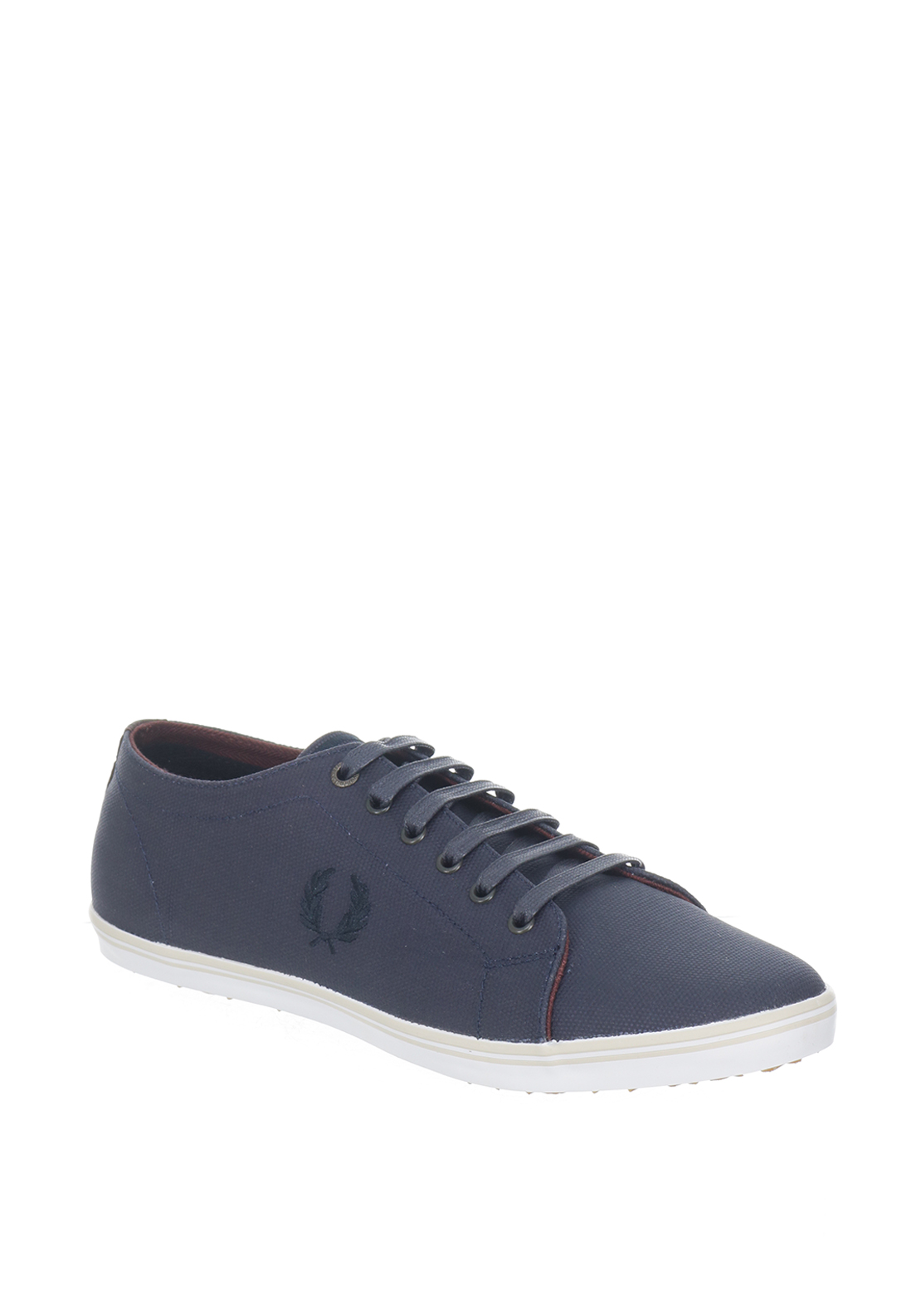 Fred Perry Kingston Coated Canvas Trainers, Navy