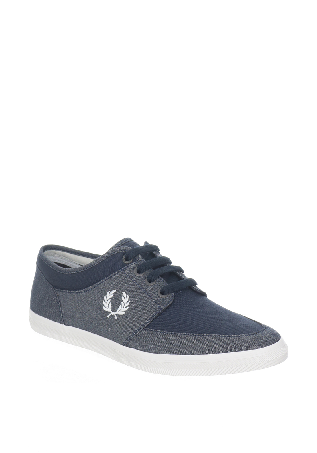 Fred Perry Stratford Canvas Trainers, Navy