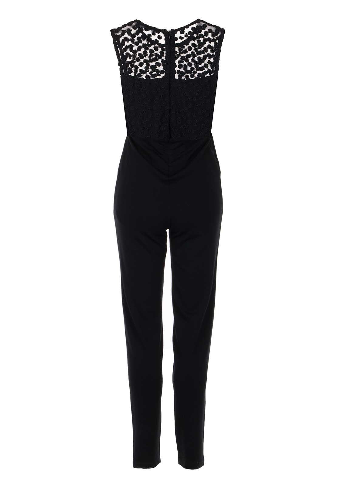 French Connection Chelsea Embroidered Jumpsuit, Black