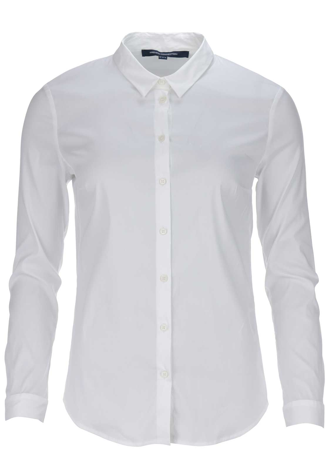 French Connection Womens Eastside Cotton Shirt, White