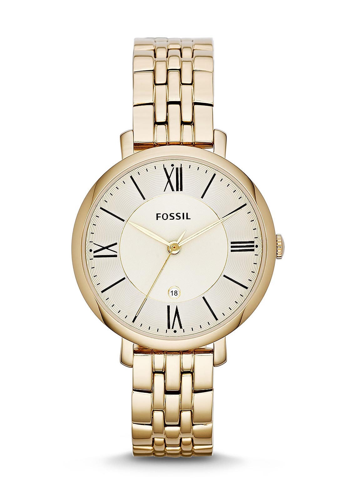 Fossil Womens Jacqueline Stainless Steel Watch, Gold
