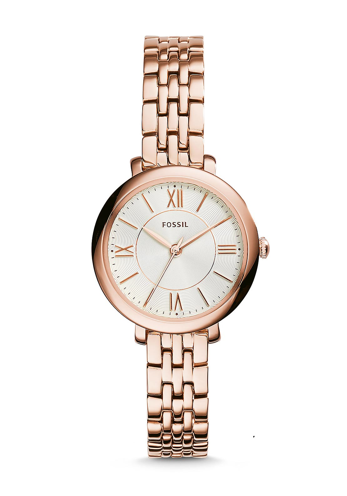 Fossil Womens Jacqueline Mini Watch, Rose Gold & White