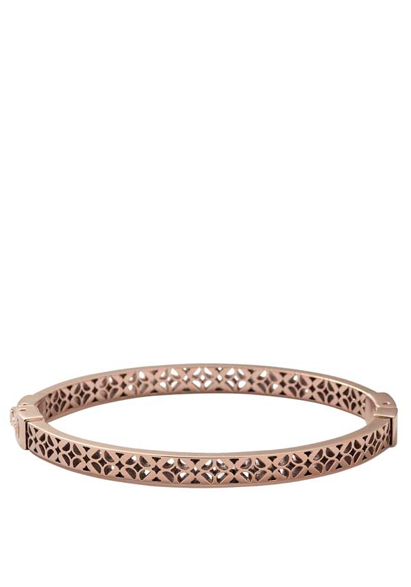 Fossil Womens Signature Cut Out Bracelet, Rose Gold