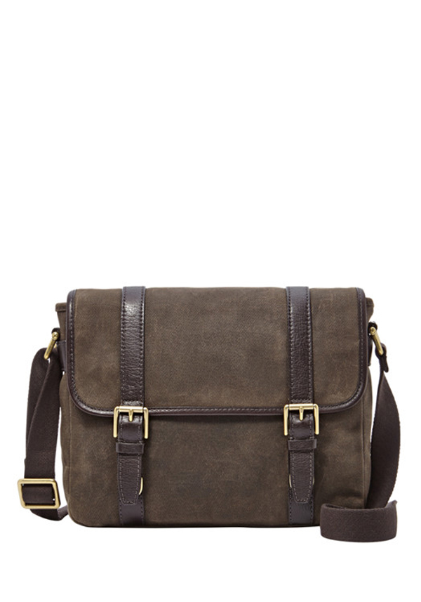 Fossil Mens Estate City Bag, Grey
