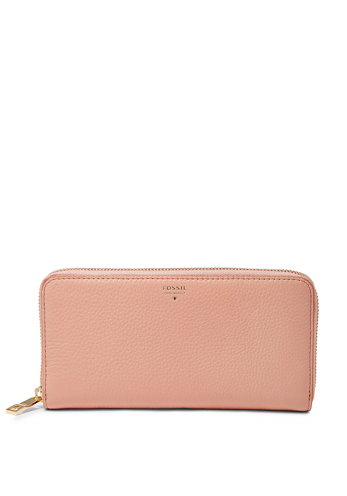 Fossil Sydney Large Leather Zipped Wallet, Shell
