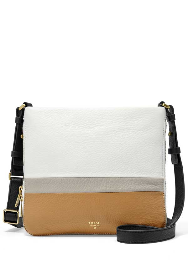 Fossil Womens Preston Crossbody, Neutral Multi