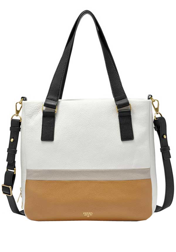 Fossil Womens Preston Shopper, Neutral Multi