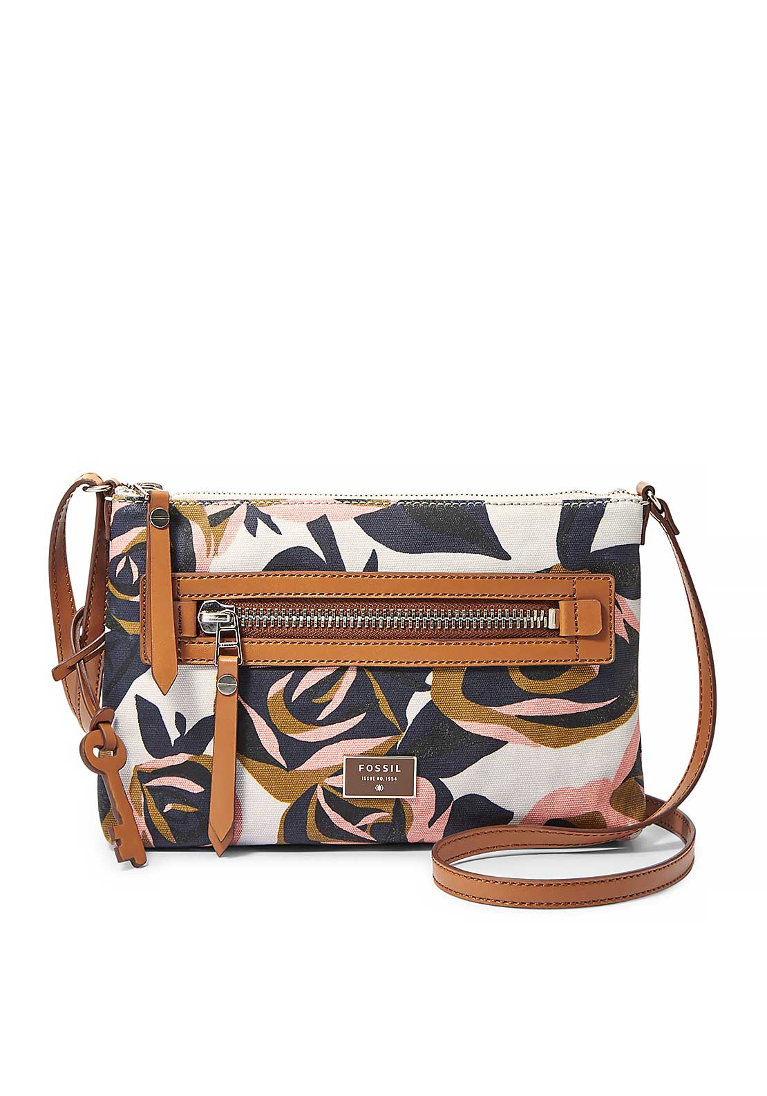 Fossil Dawson Crossbody Floral  Bag, Multi-Coloured