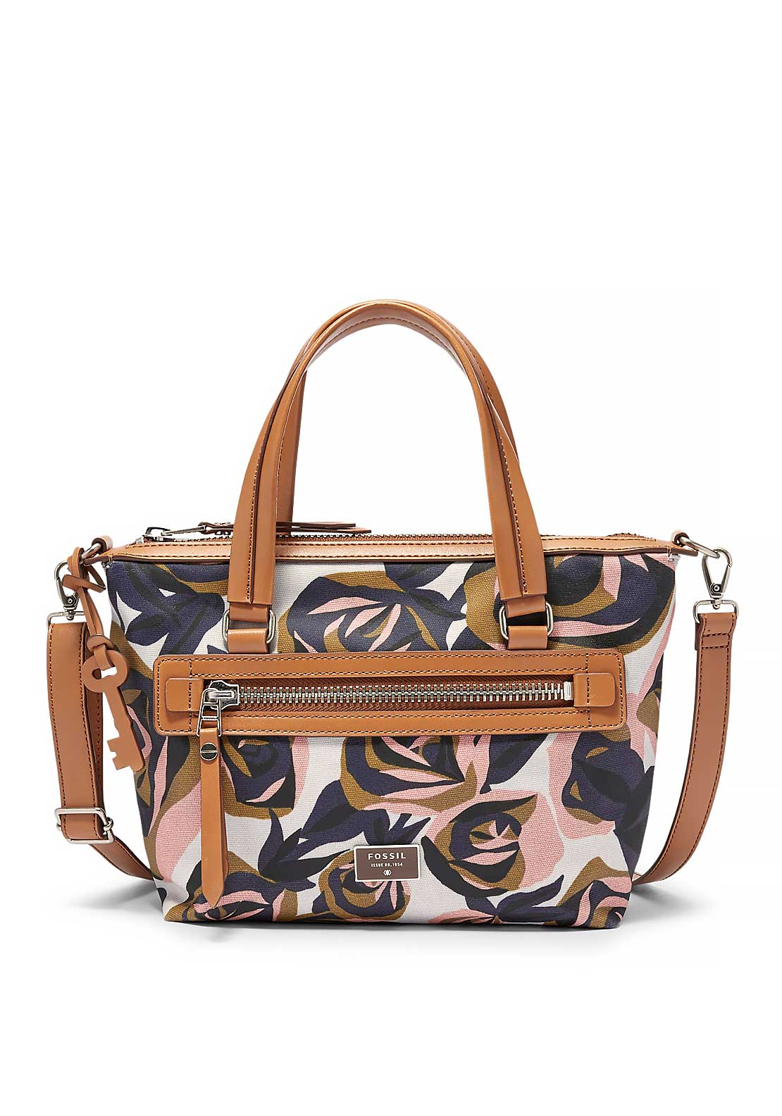 Fossil Dawson Floral Satchel Bag, Multi-Coloured