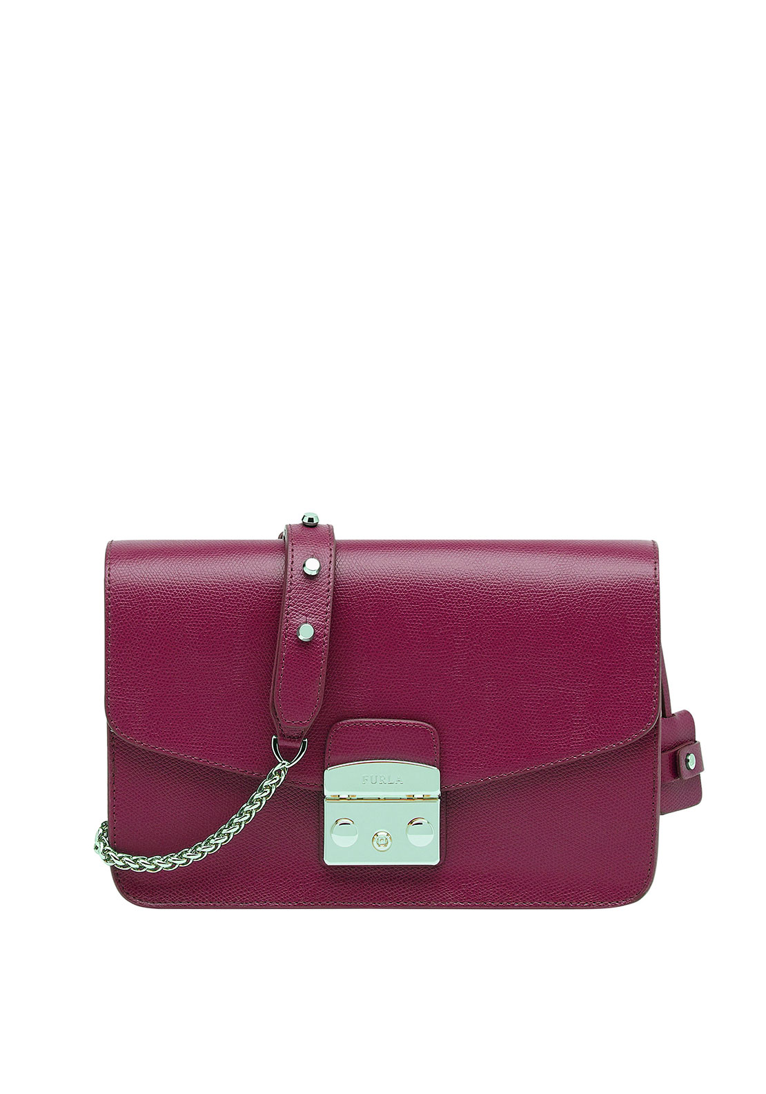 Furla Metropolis Leather Crossbody Small Bag, Pink