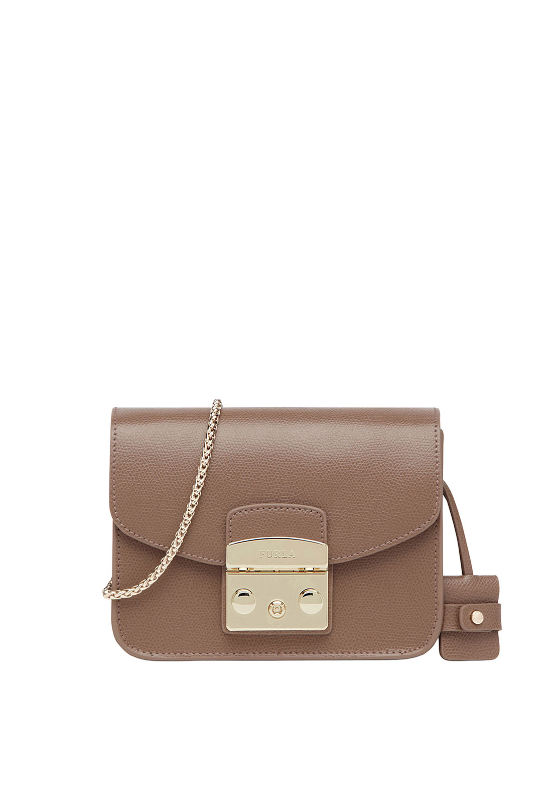 Furla Metropolis Leather Crossbody Mini Bag, Brown