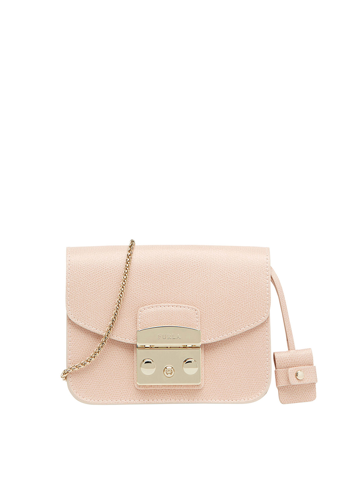 Furla Metropolis Leather Crossbody Mini Bag, Pink